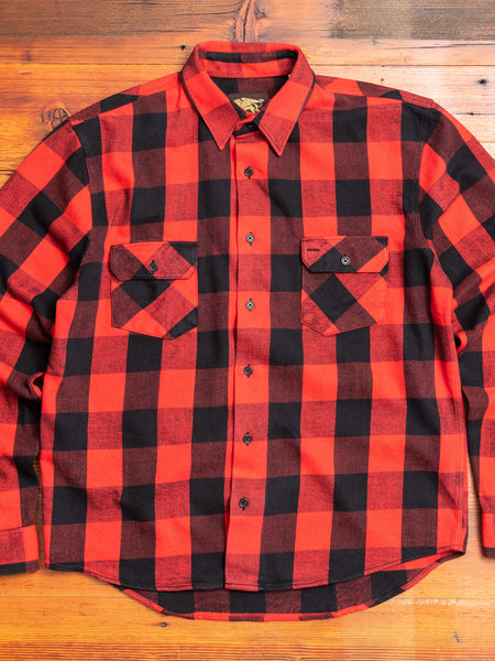 Norris Selvedge Flannel in Red