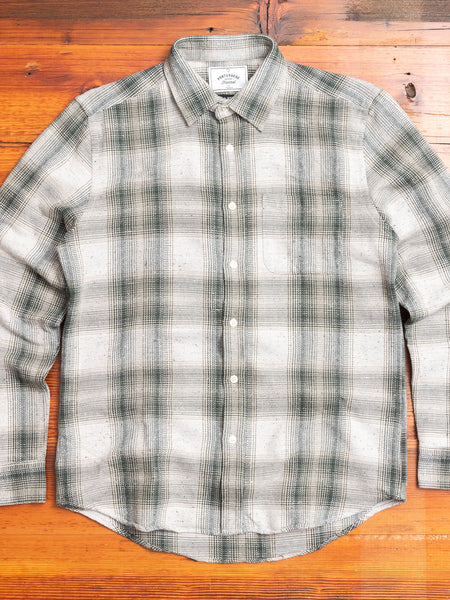 Rude Check Button-Up Shirt in Green