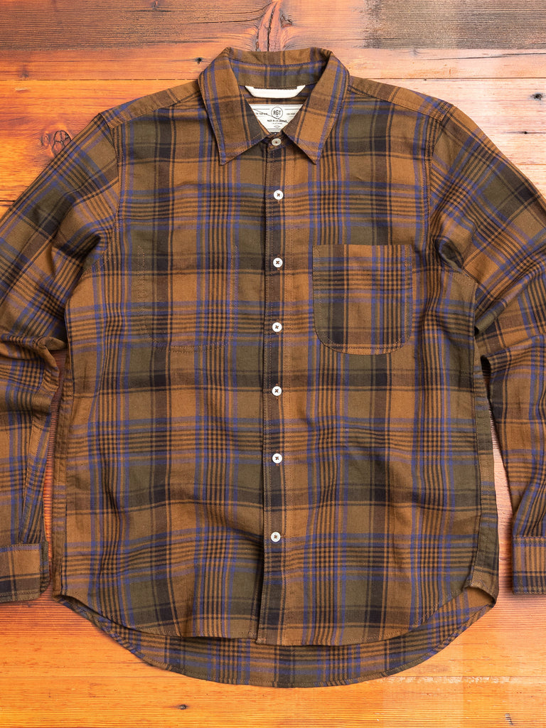 """Jumper Shirt"" in Brown Plaid"