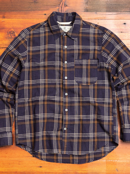 """Jumper Shirt"" in Navy Plaid"