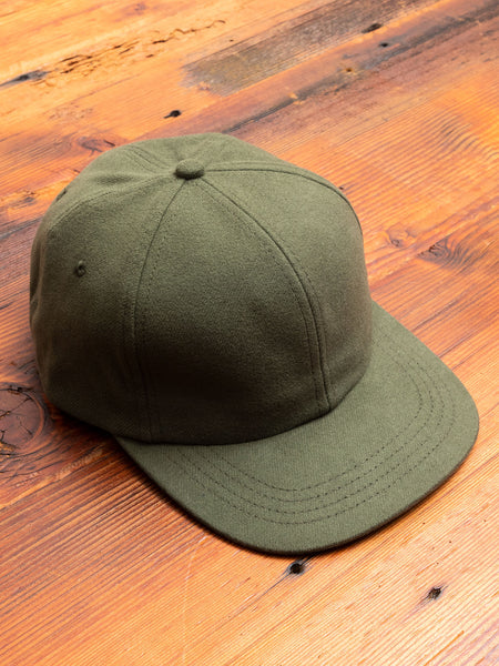 Military Flannel 6-Panel Hat in Olive