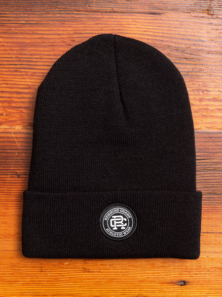 Thinsulate Crest Patch Beanie in Black