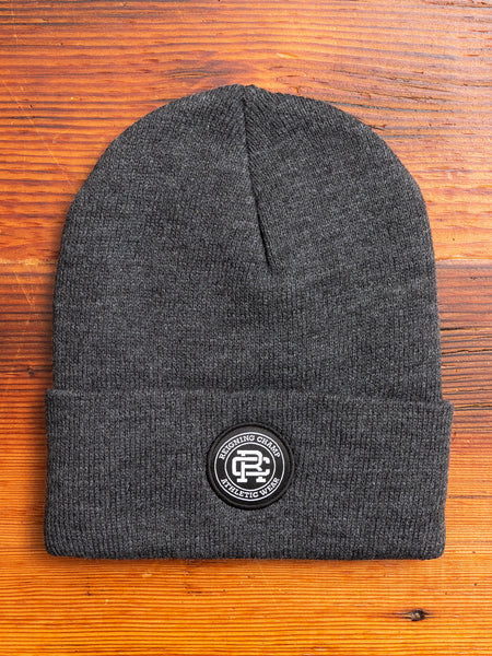 Thinsulate Crest Patch Beanie in Charcoal