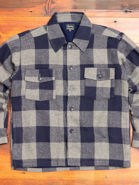 CPO Shirt Jacket in Navy Check