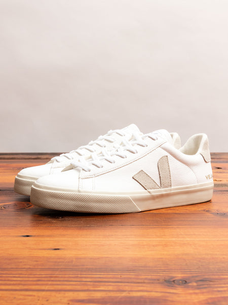 Campo Sneaker in Extra White Natural Suede