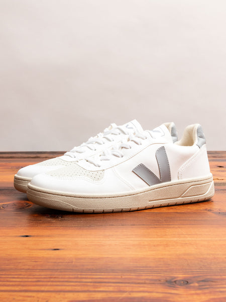 V-10 CWL Sneaker in White Oxford Grey