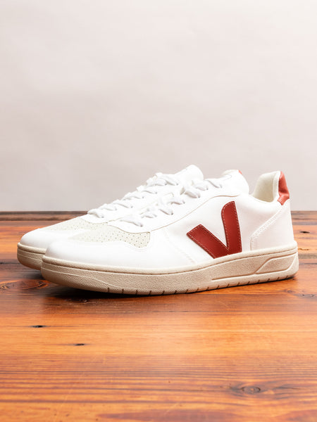 V-10 CWL Sneaker in White Rouille