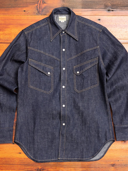 3001 Longhorn Denim Western Shirt in Indigo