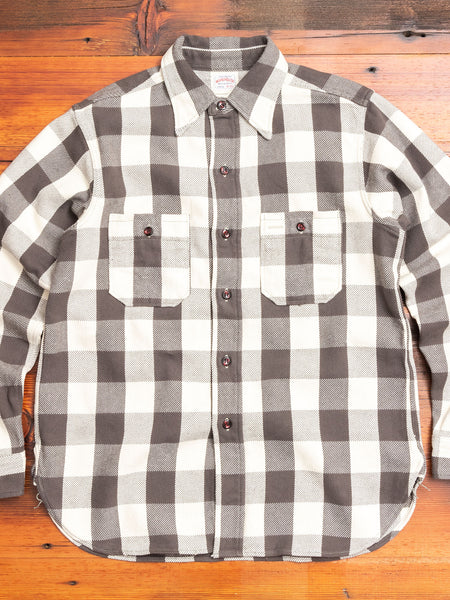 3104 Heavy Flannel Shirt in Beige