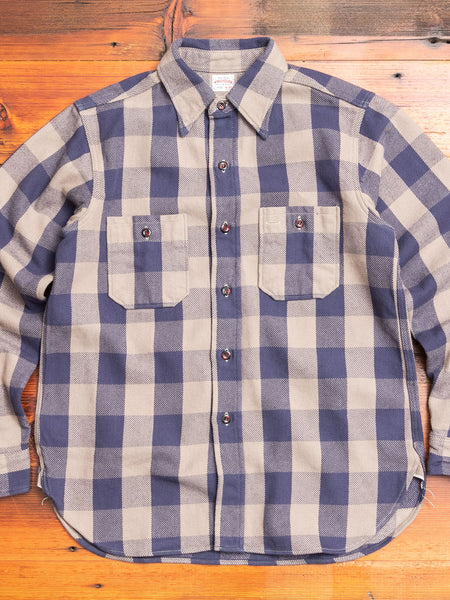 3104 Heavy Flannel Shirt in Navy