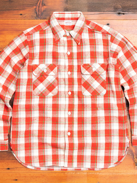 3104 Heavy Flannel Shirt in Red