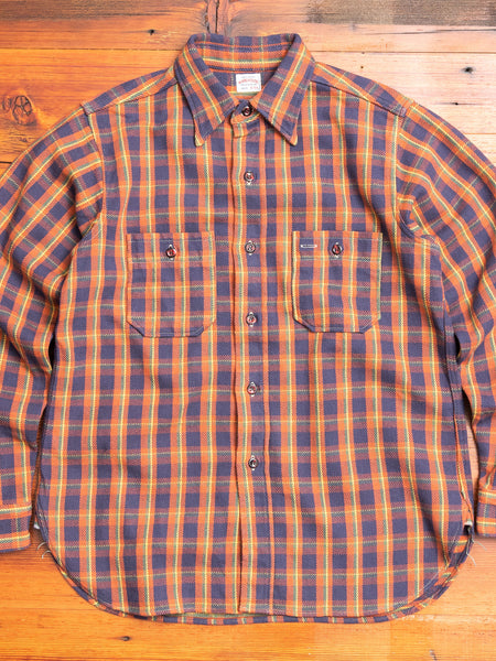 3104 Heavy Flannel Shirt in Salmon