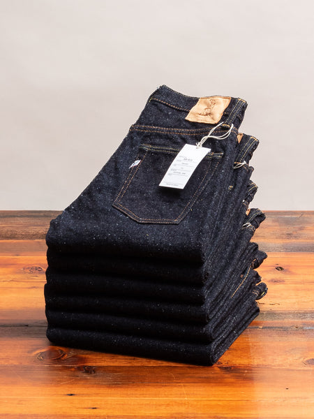 SR-013 18oz Rinsed Selvedge Denim - Slim Tapered Fit