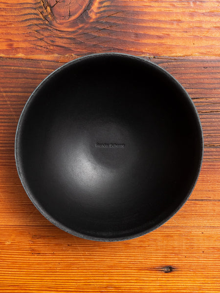 Leather Bowl in Black