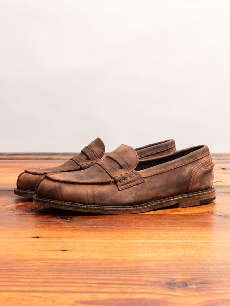 Slouchy Loafers in Dark Brown