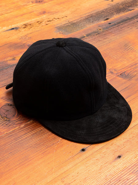 2 Tone Wool Cap in Black
