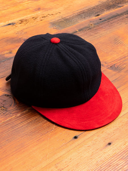 2 Tone Wool Cap in Navy/Red