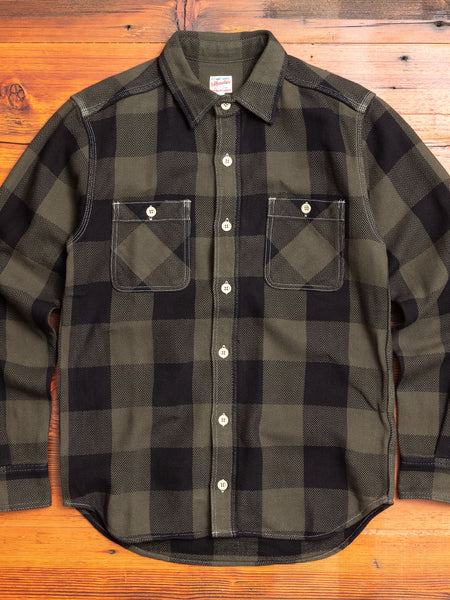 Herringbone Flannel Shirt in Green