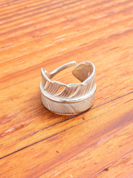 Pherrows x Peace Feather Ring in Silver