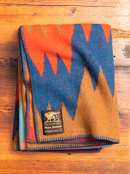 """Mountain Dazzler"" Norwegian Wool Blanket"