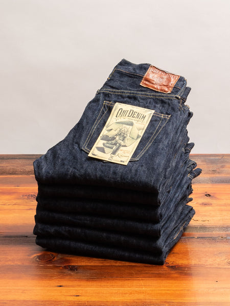 "245-NIKHN ""Natural Indigo Kihannen"" 18oz Selvedge Denim - Regular Straight Fit"