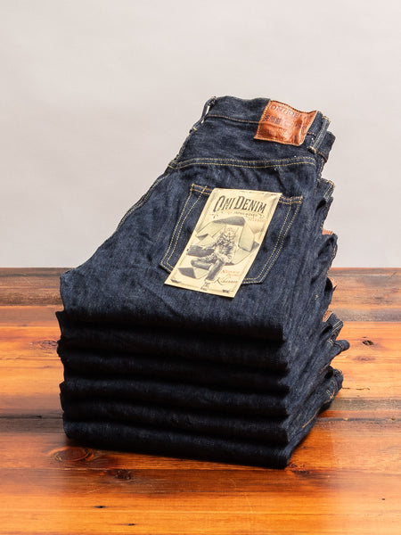 "642-NIKHN ""Natural Indigo Kihannen"" 18oz Selvedge Denim - Relaxed Tapered Fit"