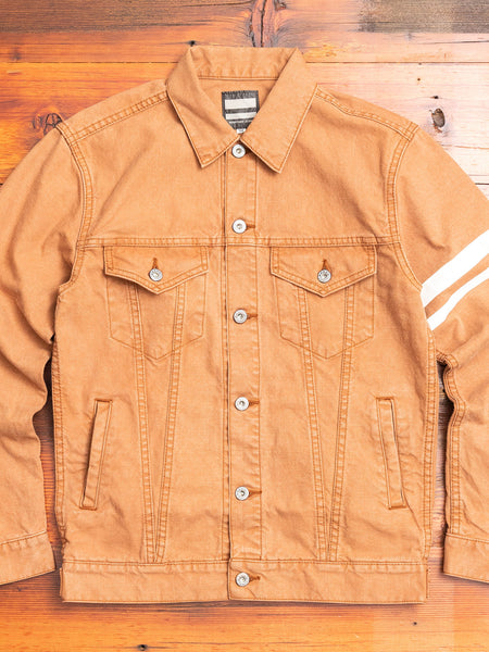 "03-150 ""Going to Battle"" Washed Duck Type-3 Jacket in Brown"