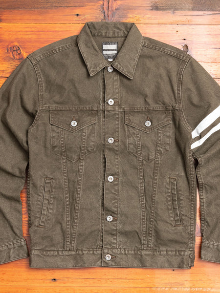 "03-150 ""Going to Battle"" Washed Duck Type-3 Jacket in Olive Drab"