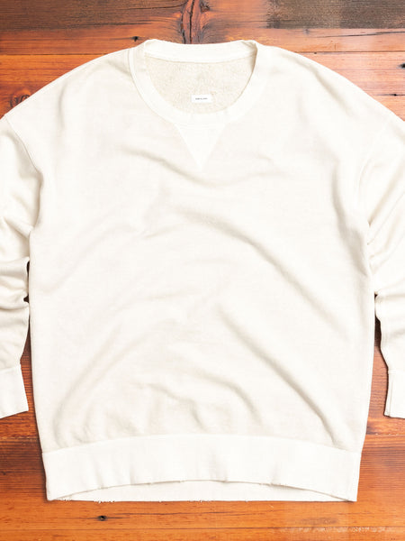 Jumbo Sweater L/S (Uneven Dye) in Ivory
