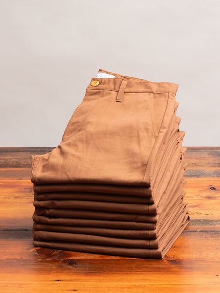12oz Selvedge Chino in Rust Canvas