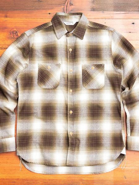 Utility Shirt in Moss Plaid