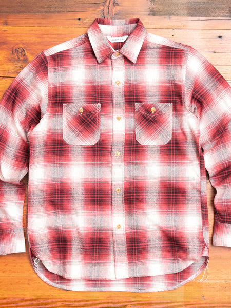 Utility Shirt in Brick Plaid