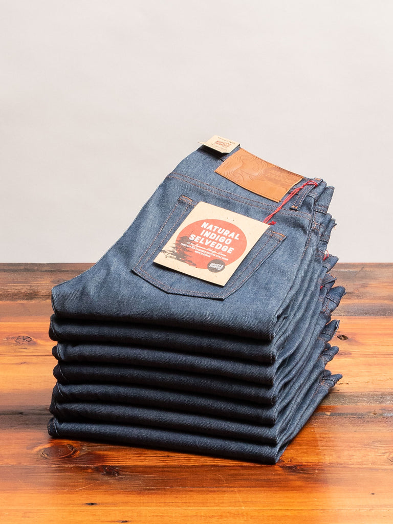 """Natural Indigo Selvedge"" 12.5oz Selvedge Denim - Weird Guy Fit"