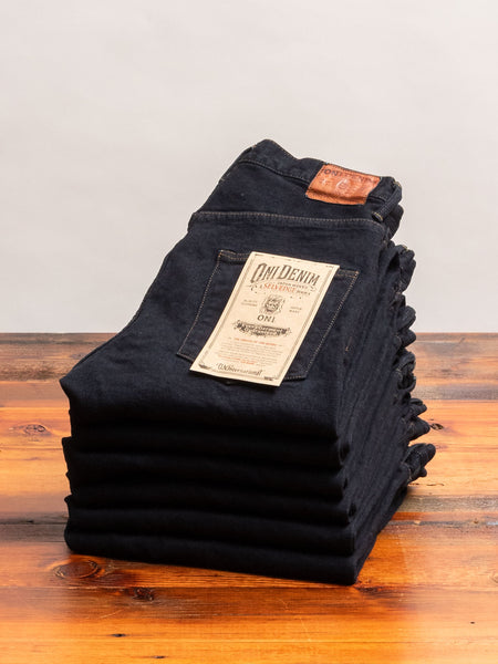 "922S-DGY ""Charcoal Overdye"" 15oz Stretch Selvedge Denim - High Tapered Fit"