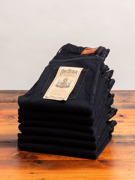 "665S-DGY ""Charcoal Overdye"" 15oz Stretch Selvedge Denim - Relaxed Tapered Fit"