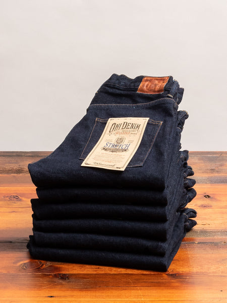 "665S-LGY ""Grey Overdye"" 15oz Stretch Selvedge Denim - Relaxed Tapered Fit"