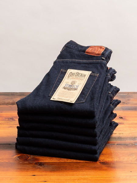 "922S-LGY ""Grey Overdye"" 15oz Stretch Selvedge Denim - High Tapered Fit"