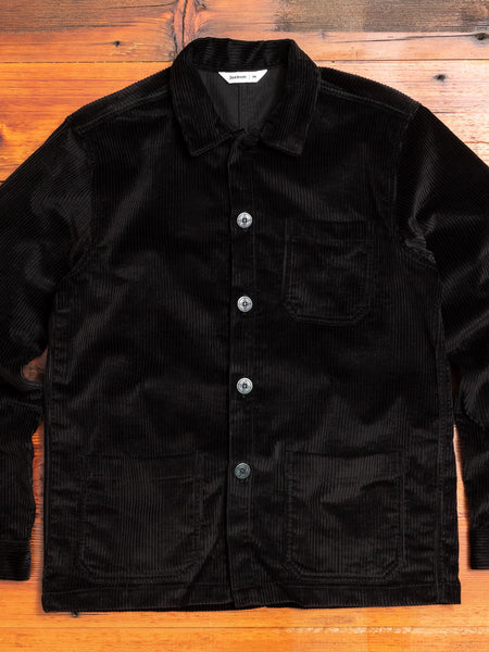 Corduroy Shop Jacket in Black