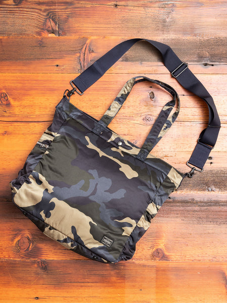 """Counter Shade"" 2-Way Tote Bag in Woodland Khaki"