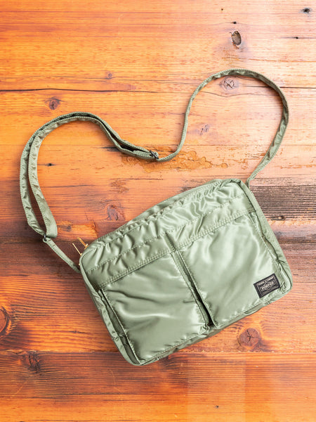 """Tanker"" Shoulder Bag (L) in Sage Green"