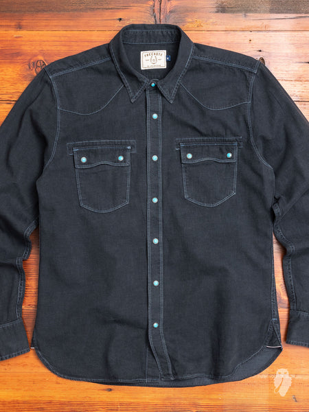 Modern Western Shirt in Midnight