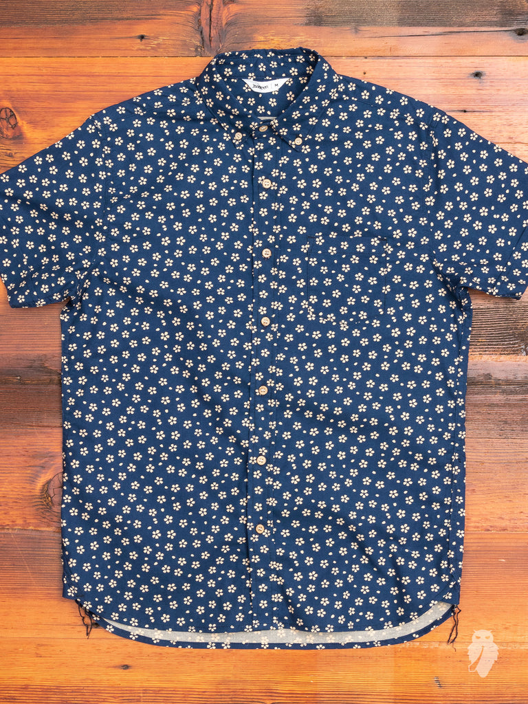 Sakura Button-Down Shirt in Blue