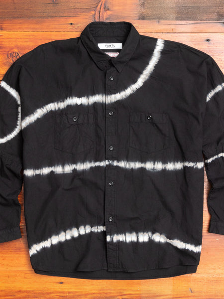 Oversized Shibori Shirt in Black