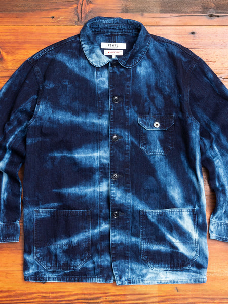Shibori Coverall Jacket in Indigo