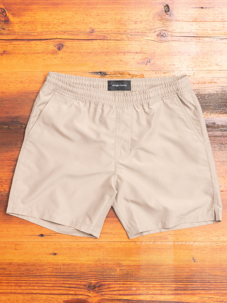Woven Swim Shorts in Dust