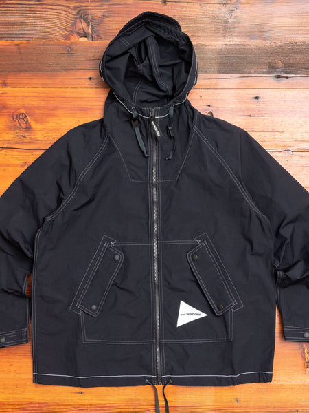 Nylon Taffeta Shell Jacket in Black