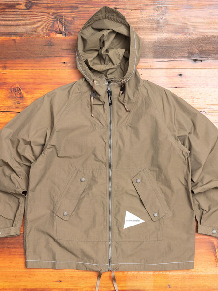 Nylon Taffeta Shell Jacket in Khaki Green