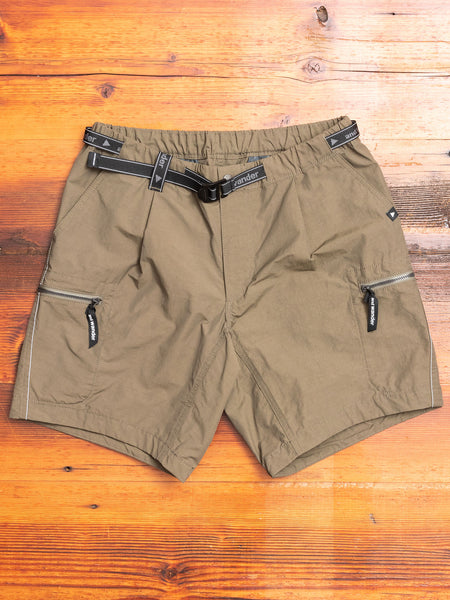 Nylon Taffeta Shorts in Khaki Green
