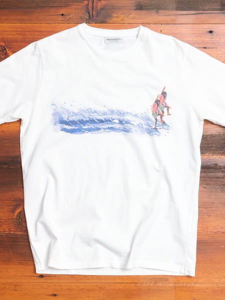 """Mirage Surfer"" T-Shirt in White"