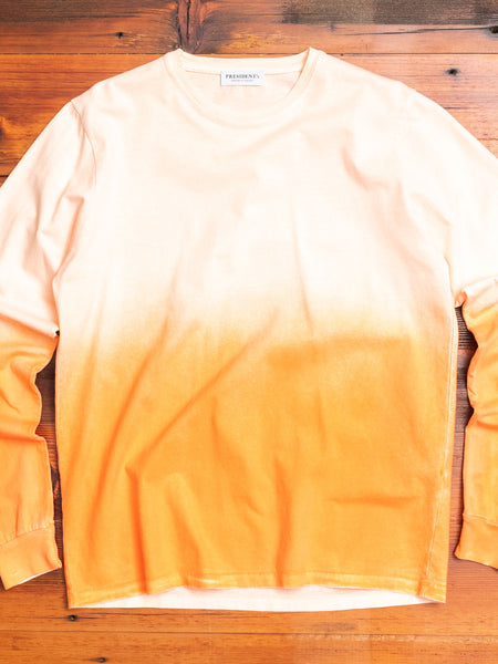 """On the Face of the Wave"" Long Sleeve T-Shirt in Shaded Orange"